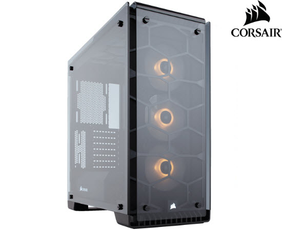 Corsair Crystal Series 570x RGB Case White Tempered Window