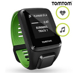 TomTom Runner 3 Cardio Music Smart Watch Large Black Green