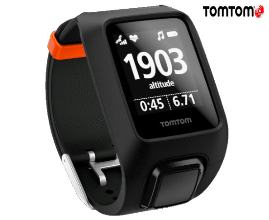 TomTom Adventurer Cardio Music Smart Watch Black Large
