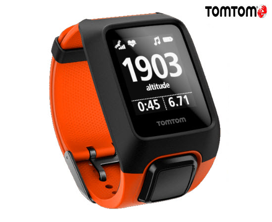 TomTom Adventurer Cardio Music Smart Watch Orange Large