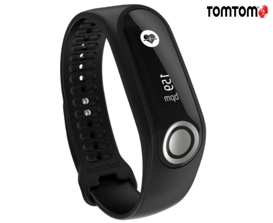 TomTom Touch Cardio Body Fitness Tracker Large Black