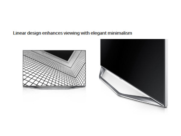 Linear design enhances viewing with elegant minimalism