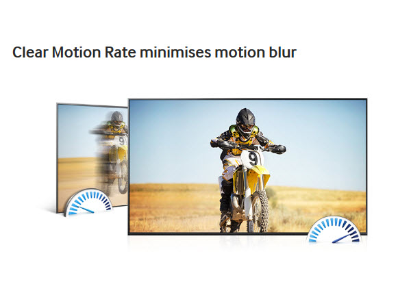 Clear Motion Rate minimises motion blur