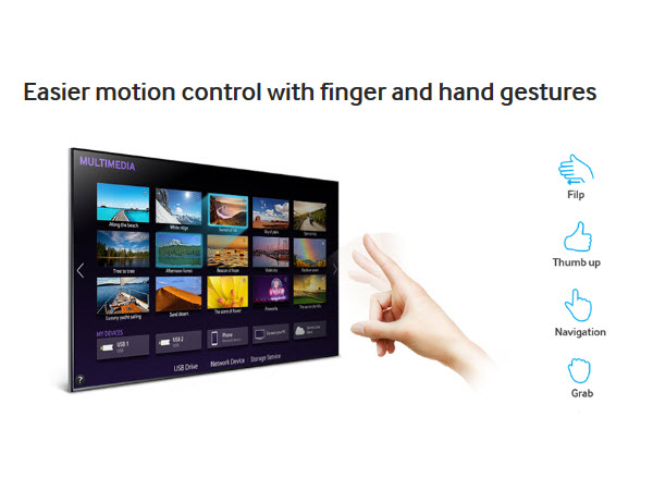 Easier motion control with finger and hand gestures