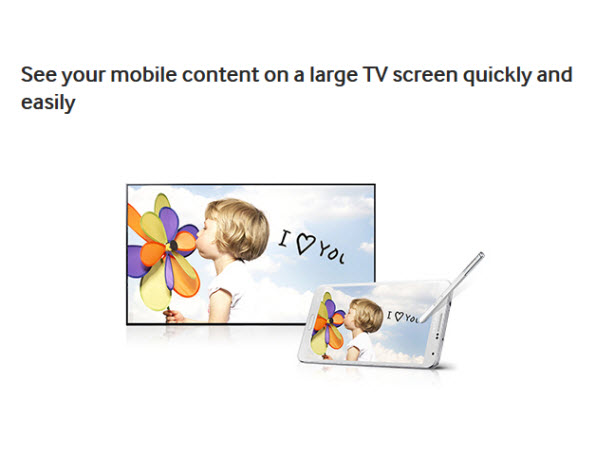 See your mobile content on a large TV screen quickly and easily