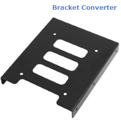 2.5 In Flat Mounting Bracket for 3.5 In Bay