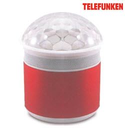 Telefunken TBS-50R Portable Red Bluetooth Speaker