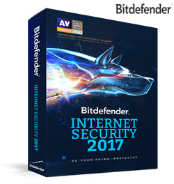 Bitdefender Internet Security 2017 4PC 1 Year DVD