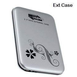 External 2.5 Inch SATA USB 3.0 Silver Chassis Enclosure