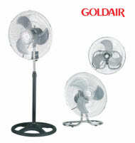GoldAir GHV-1802 45cm 3-In-1 Desk, Pedestal and Wall mount Fan