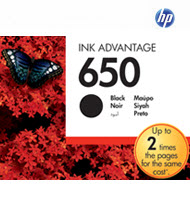 HP CZ101AE 650 Black Original Ink Advantage Cartridge