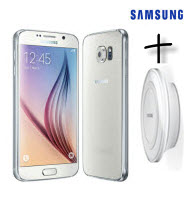 Samsung GALAXY S6 White LTE 5.1 Android Smartphone with WL Charg