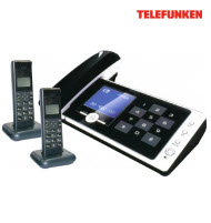Telefunken TCH-708 Cordless Telephone Handset with 2 Dect Phon