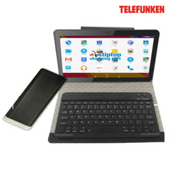Telefunken TELC-1013GIQP 10.1 3G Tablet with Power Bank BT Keybo