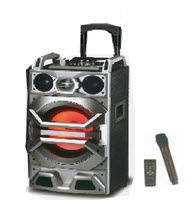 Telefunken TTS-100BT 10in Trolley Speaker with BT MIC Remote