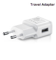 2 Pin AC to USB Travel Adapter