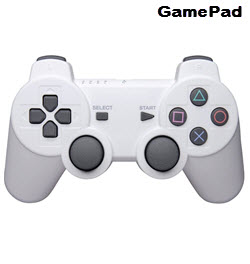 Dual Shock Wireless PS3 GamePad Controller with Vibration White