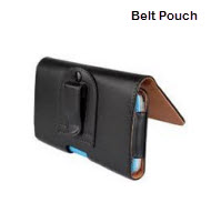 Universal 5 Inch Black Mobile Belt Pouch